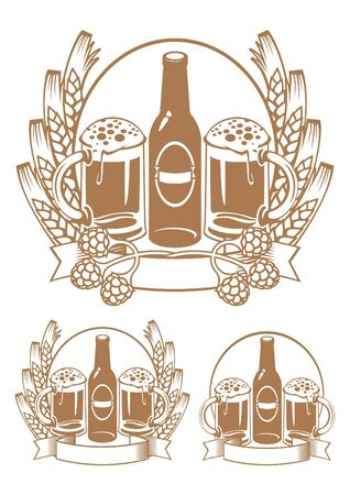 beer bottle ear  Vector