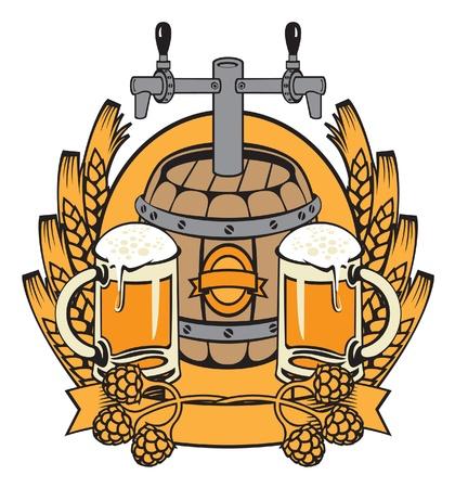 coat with a barrel of beer  Stock Vector - 11650880