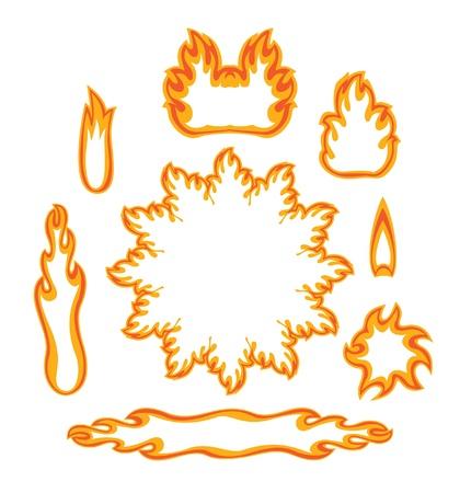 Set fire Vector