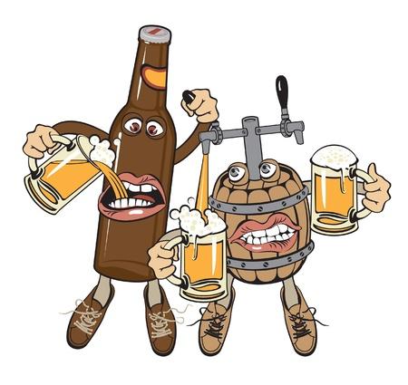 붓는 것: 알코올 중독의 친구 일러스트