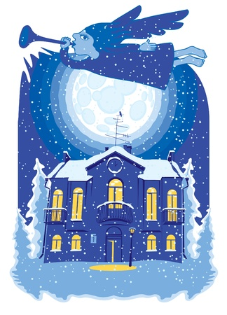 winter wonderland: snow angel