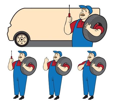 mechanik Auto Naprawa Ilustracje wektorowe