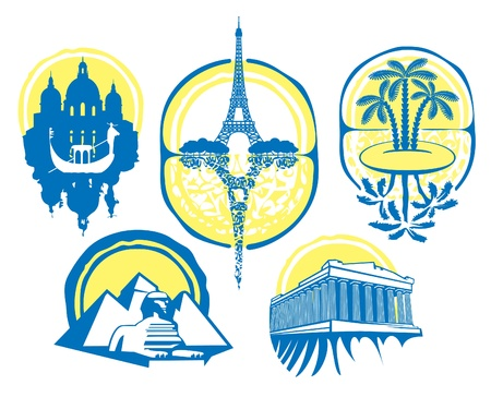 different cities  Vector
