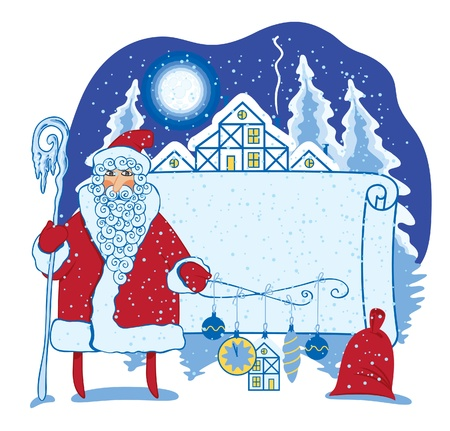 Santa in the landscape  Stock Vector - 11650892