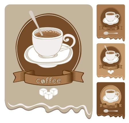 strong coffee  Vector
