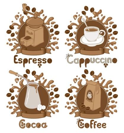 quatre articles sur le thème du café