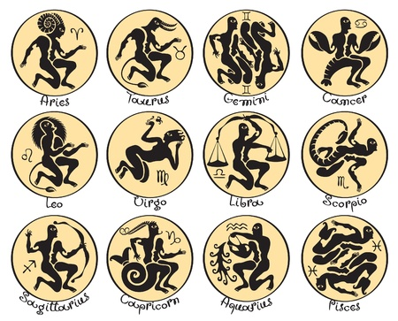 horoscope: horoscope in antique style  Illustration