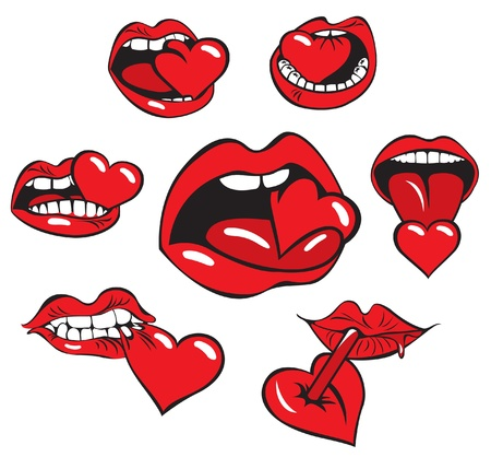 mouth eats the heart  Stock Vector - 11650929