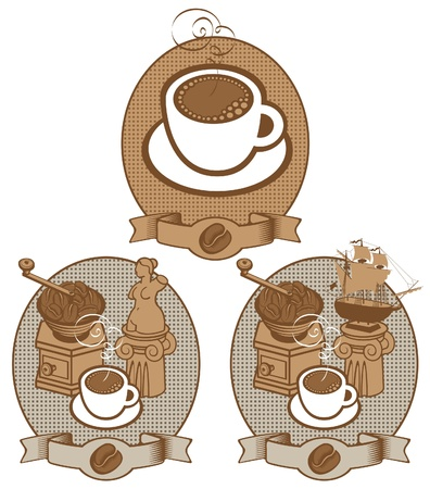chocolate box: coffee vintage  Illustration