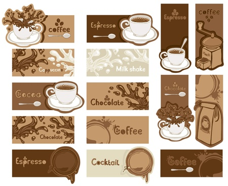Different coffee banners  Vector