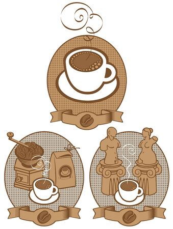 cup of coffee for two lovers  Vector