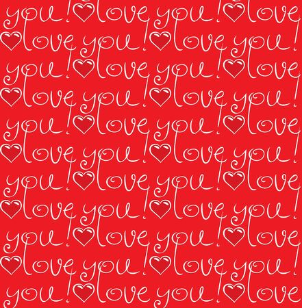 Seamless texture love you  Stock Vector - 11650941