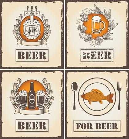 bier glazen: een menu met bier