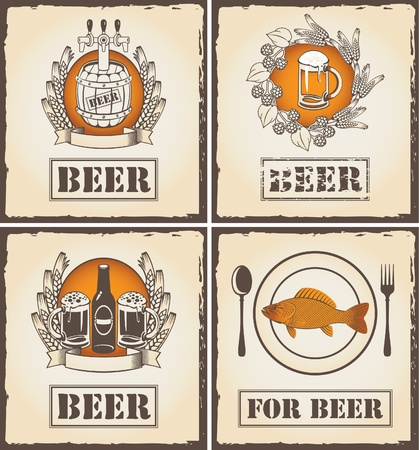 for a menu with beer  Vector