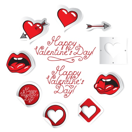 set of valentines  Stock Vector - 11769175