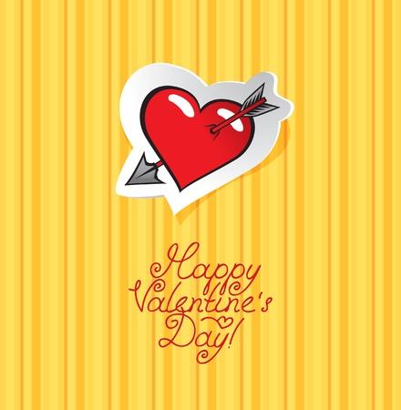 heart with an arrow  Stock Vector - 11769171
