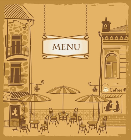 Cover with the urban cafe menu  Vector