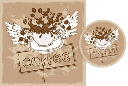 stand for the coffee Vector