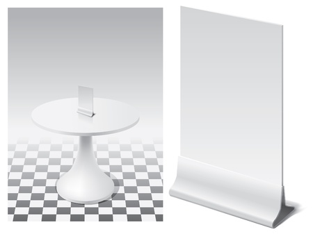 stand for menu to the table in interior  Vector
