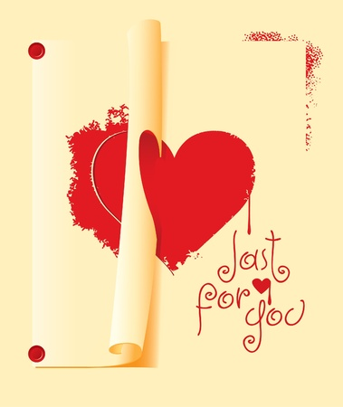 sign of heart painted through a stencil on the wall Stock Vector - 11961114