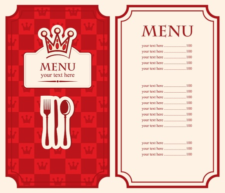 Royal menu  Vector