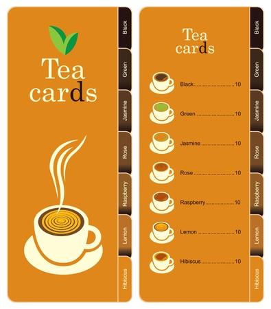 price list: tea card  Illustration