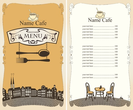 menu for the restaurant city  Vector