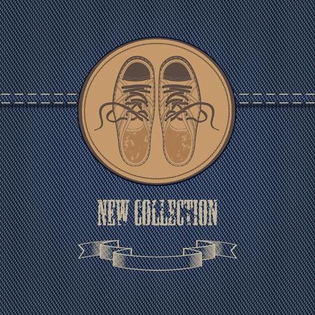 mezclilla: banner en tejidos de mezclilla para prendas de vestir y calzado