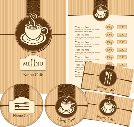 visit card: Menu style cafeteria  Illustration