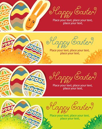four banners for Easter holiday