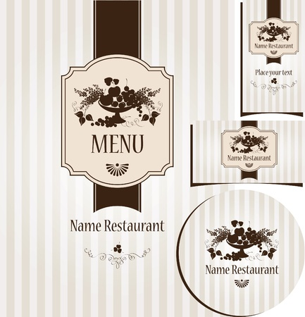 menu in a retro style  Vector