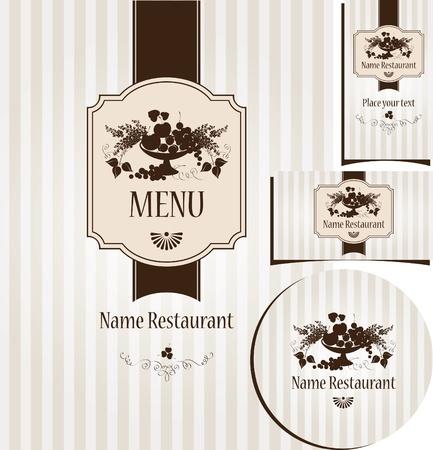 plum: menu in a retro style