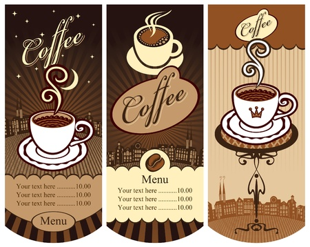 three banners for local cafes  Vector
