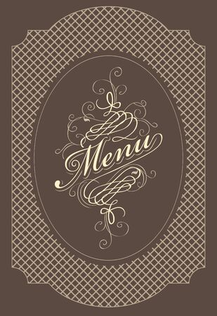 banner for menu with words Vector