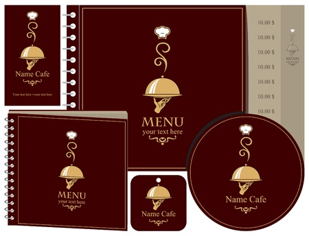 set of elements for design of restaurant  Vector
