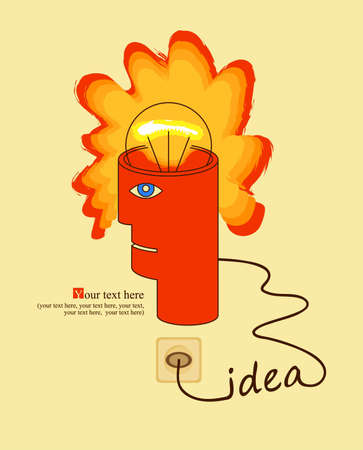 human head with the idea  Stock Vector - 12490839