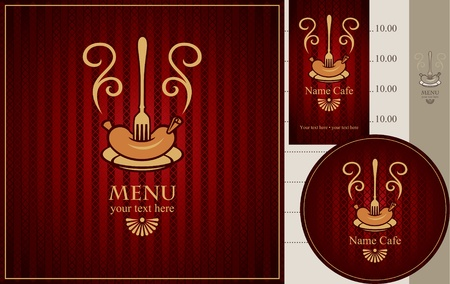menu for meat dishes  Vector