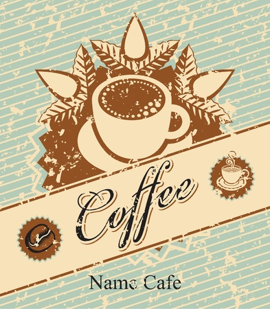 banner for coffee in retro style  Vector