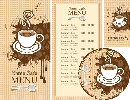 set of design elements for the cafe  Vector