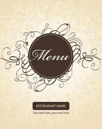 Banner for menus with curls Vector