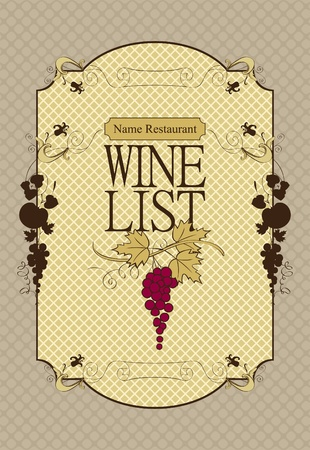 banner for the wine menu Vector