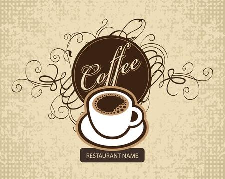 druckerei: Banner mit einer Tasse Kaffee