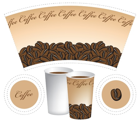 paper cup for coffee Stock Vector - 13445946