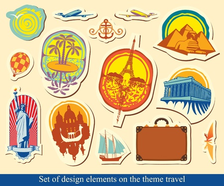 set of design elements on tourist industry  Vector
