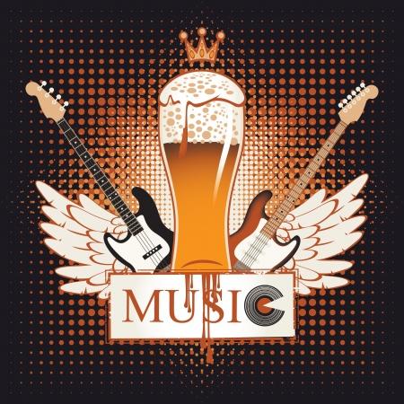 clave de fa: bandera para el pub con m�sica en vivo