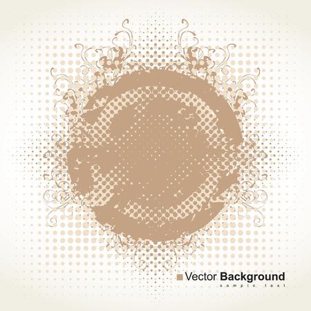 abstract background in beige color scheme Stock Vector - 14123052