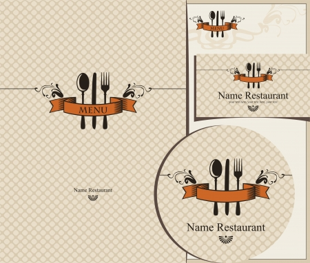 set of design elements for the cafe Stock Vector - 14197988