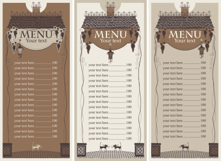 menu of the old roof and lantern Vector