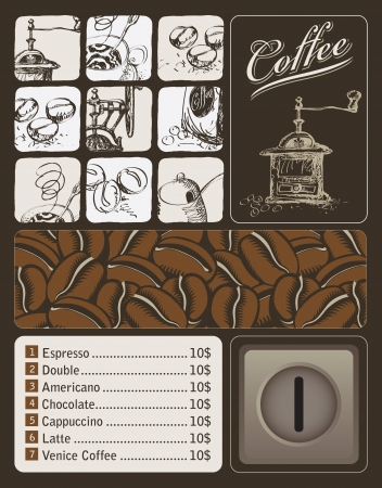 banner on the topic of coffee with a place for the money Vector