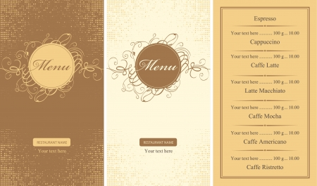 set of menus for a cafe or restaurant Stock Vector - 14308881